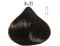 Стойкая крем-краска  LABORATOIRE  DUCASTEL Subtil Creme 5-71 - светло-каштановый пепельный , 60 мл