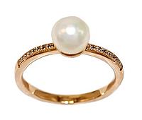 Кольцо обручальное с бриллиантами. Размер 20. Медзолото, Медицинское золото, Ювелирные украшения.