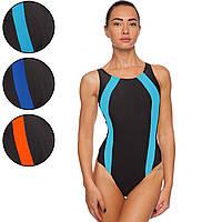 Купальник для плавания слитный подростковый 405B размер S-L рост 130-150см цвета в ассортименте