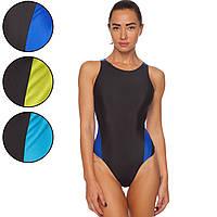 Купальник для плавания слитный женский 404 размер L-2XL рост 155-180см цвета в ассортименте