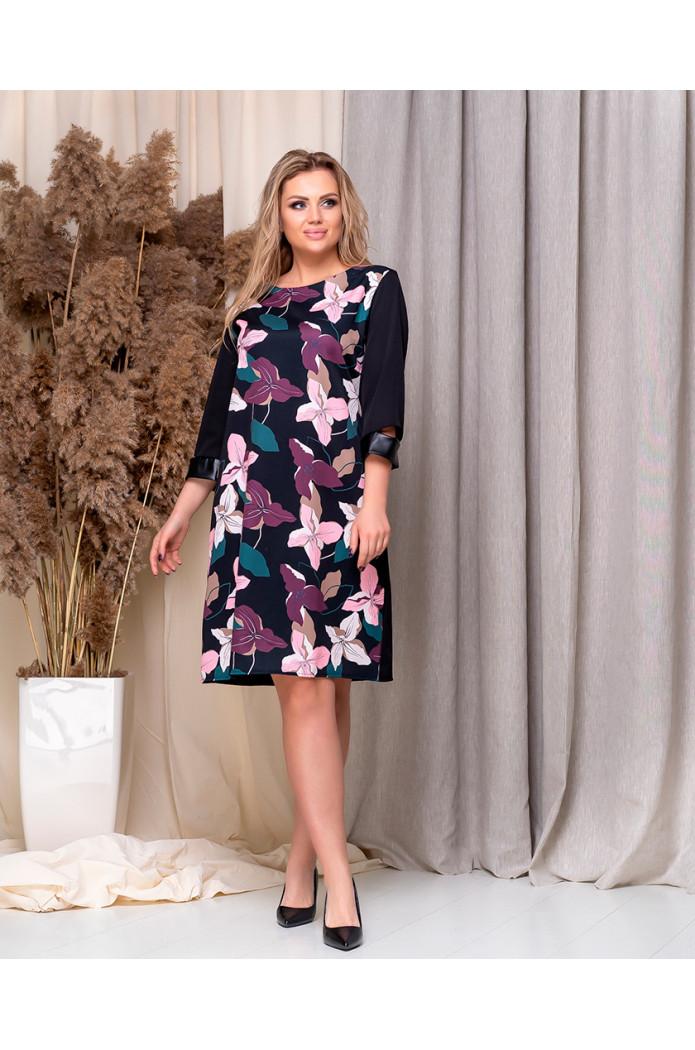 Модное женское платье - принт цветы от 48р.
