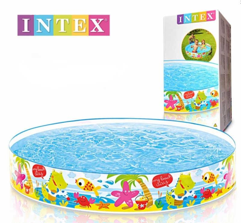 "Intex Бассейн 56451 NP ""Весёлый пляж"" (6) размером 152х25см, объём: 370л, вес: 1,4кг, от 3-х лет"