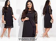 Комбіноване сукня жіноча (4 кольори) SD-716 - Чорний, фото 1