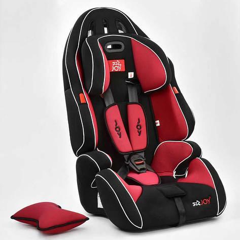Автокресло универсальное G 1699 (2) Цвет чёрно-красный 9-36 кг, с бустером, Joy, фото 2