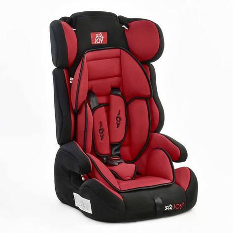 Автокресло универсальное Е 1120 (2) Цвет чёрно-красный 9-36 кг, с бустером, Joy, фото 2