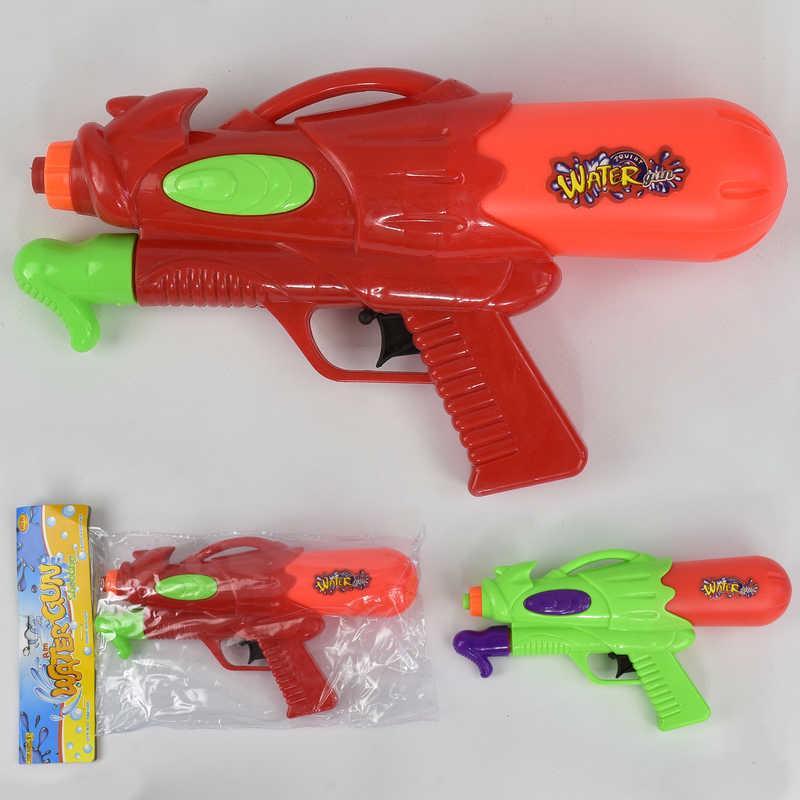 Водный пистолет А 113 (180/2) 2 цвета, с накачкой, в кульке, 24см
