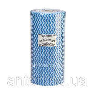 Салфетка 20х20см для маникюрного столика спанлейс в рулоне, голубая