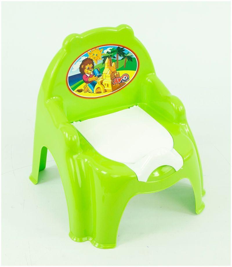 """Гр Горшок-кресло 4074 (10) цвет салатовый и голубой """"ТЕХНОК"""""""