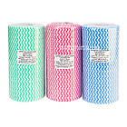Серветка 20х20см для манікюрного столика спанлейс в рулоні, рожева, фото 2