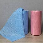 Серветка 20х20см для манікюрного столика спанлейс в рулоні, рожева, фото 3