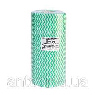 Салфетка 20х20см для маникюрного столика спанлейс в рулоне, зеленая