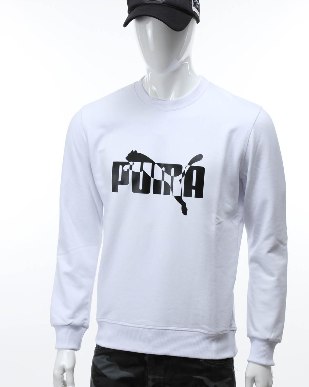 Свитшот мужской белый PUMA с лого №2 WHT XXL(Р) 20-414-001