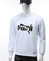 Свитшот белый PUMA с лого №2 WHT M(Р) 20-414-001