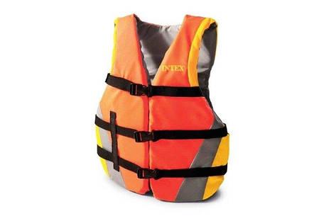 Спасательный жилет детский Intex 69680, 22 - 40 кг, оранжевый, фото 2