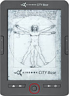Электронная книга AirOn AirBook City Base Grey, 6 (800х600) E Ink Carta, ОЗУ 128 МБ, 4 ГБ встроенная + microSD до 32 ГБ, 1500 мАч, 164 х 116 х 8.6 мм,