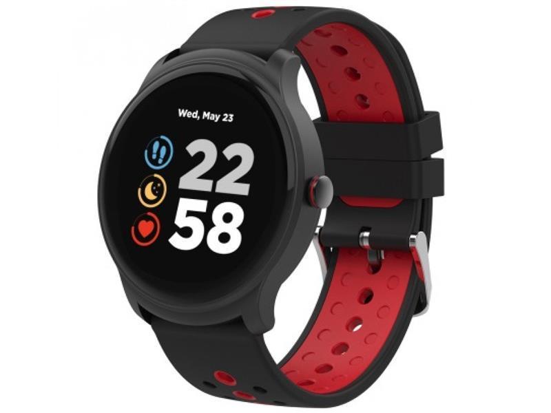 Умные часы Canyon Oregano CNS-SW81 Black/Red, 1.3 (240х240) сенсорный / Nordic NRF52832 / ОЗУ 128 КБ / 512 КБ