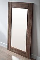 Зеркало в раме из натурального дерева HomeDeco темный орех 150х50