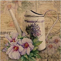 Подарочный бумажный крафт пакет ЧАШКА 16*16*8 см Ваза