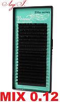 Ресницы Vivienne 0.12. чёрные MIX. 20 линий D, 9-14мм