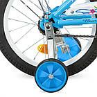 Велосипед дитячий двоколісний PROFI L1684 Flower 16 дюймів блакитний, фото 3