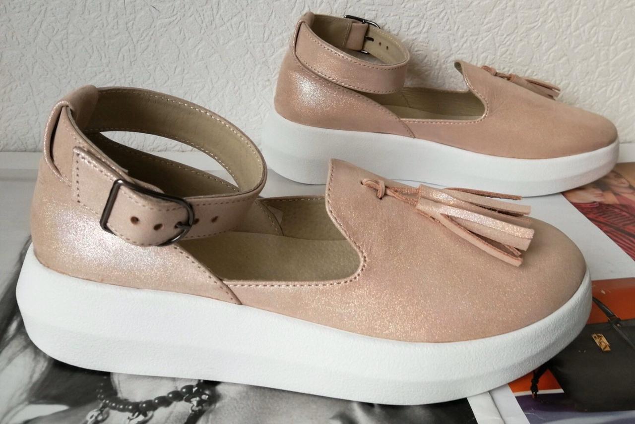 Elle шик! Удобные цвета пудра кожа женские весенние туфли на средней платформе стильные и красивые!