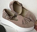 Elle шик! Удобные цвета пудра кожа женские весенние туфли на средней платформе стильные и красивые!, фото 7