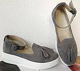 Elle шик! Удобные цвета пудра кожа женские весенние туфли на средней платформе стильные и красивые!, фото 10