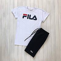 Мужской летний комплект шорты футболка  Фила
