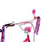 Велосипед дитячий двоколісний PROFI Y1682 Flower 16 дюймів малиновий, фото 2