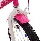 Велосипед дитячий двоколісний PROFI Y1682 Flower 16 дюймів малиновий, фото 4