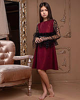 Платье с красивыми рукавами и привлекательным поясом