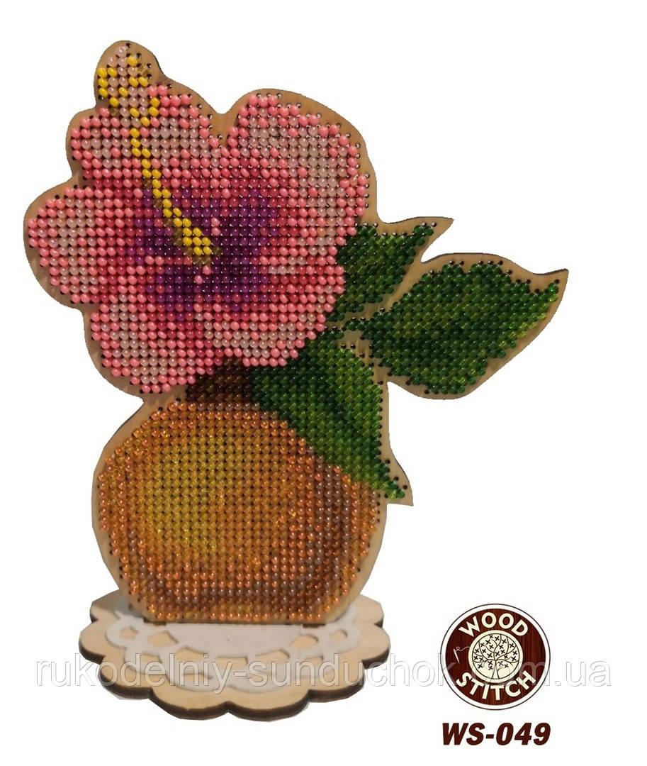 Набір для вишивання бісером по дереву WS-049 Квіткові аромати. Гібіскус