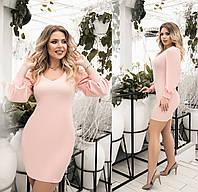 Женское короткое платье большого размера.Размеры:48-54.+Цвета, фото 1