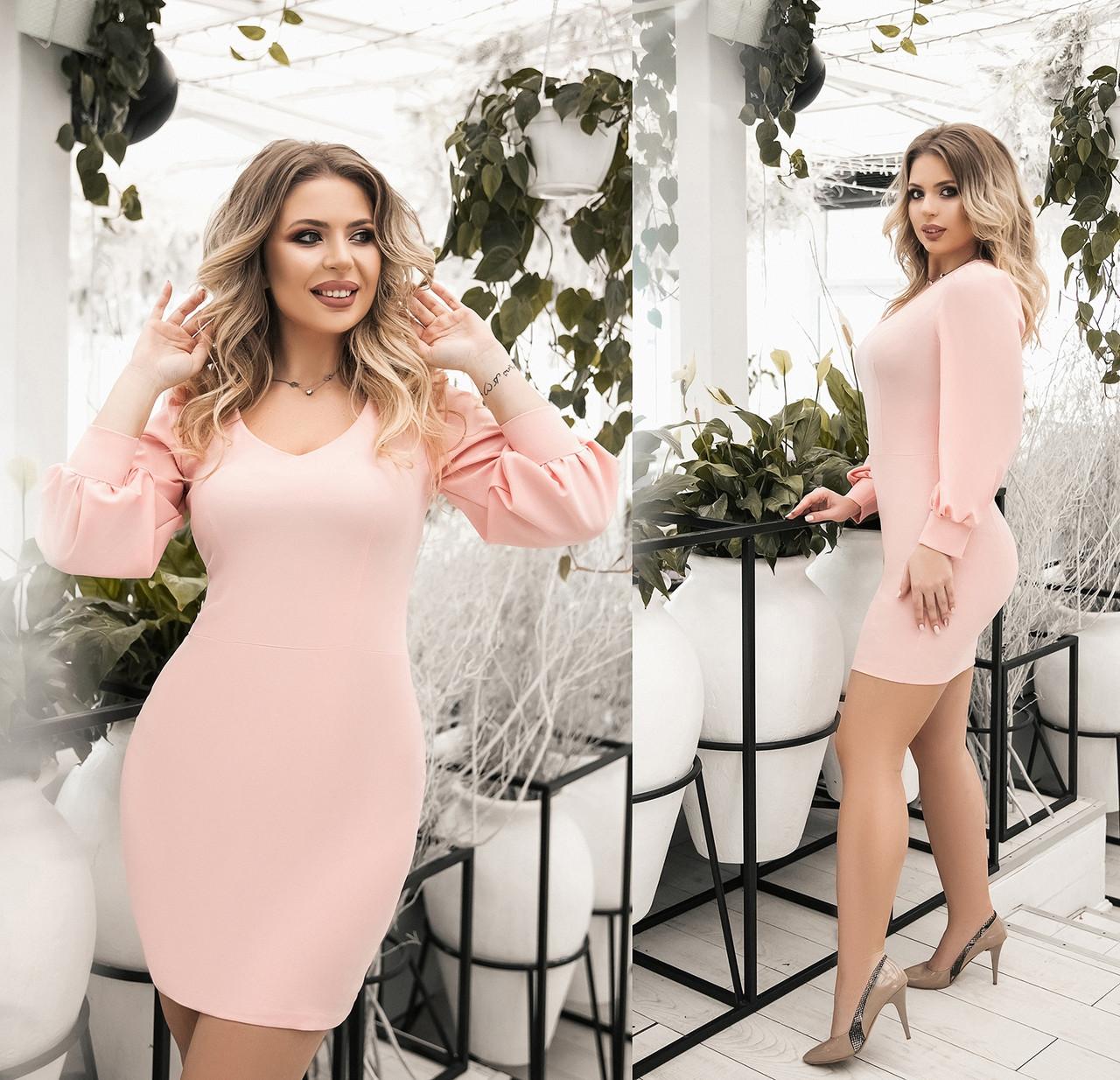 Женское короткое платье большого размера.Размеры:48-54.+Цвета