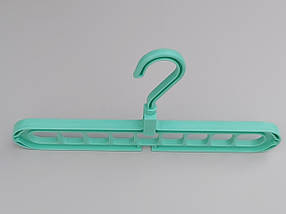Чудо-вешалка органайзер для одежды бирюзового цвета, фото 3