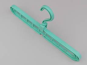 Чудо-вешалка органайзер для одежды бирюзового цвета, фото 2