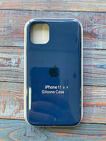 Накладка Apple Silicone Case iPhone 11 {6.1 *} Navy Blue [копія]