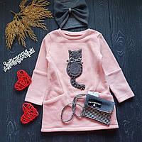 Платье на флисе с котиком и сумочкою