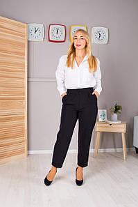 Женские укороченые брюки Зария черная