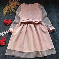Платье с оригинальным дизайном с красивым поясом