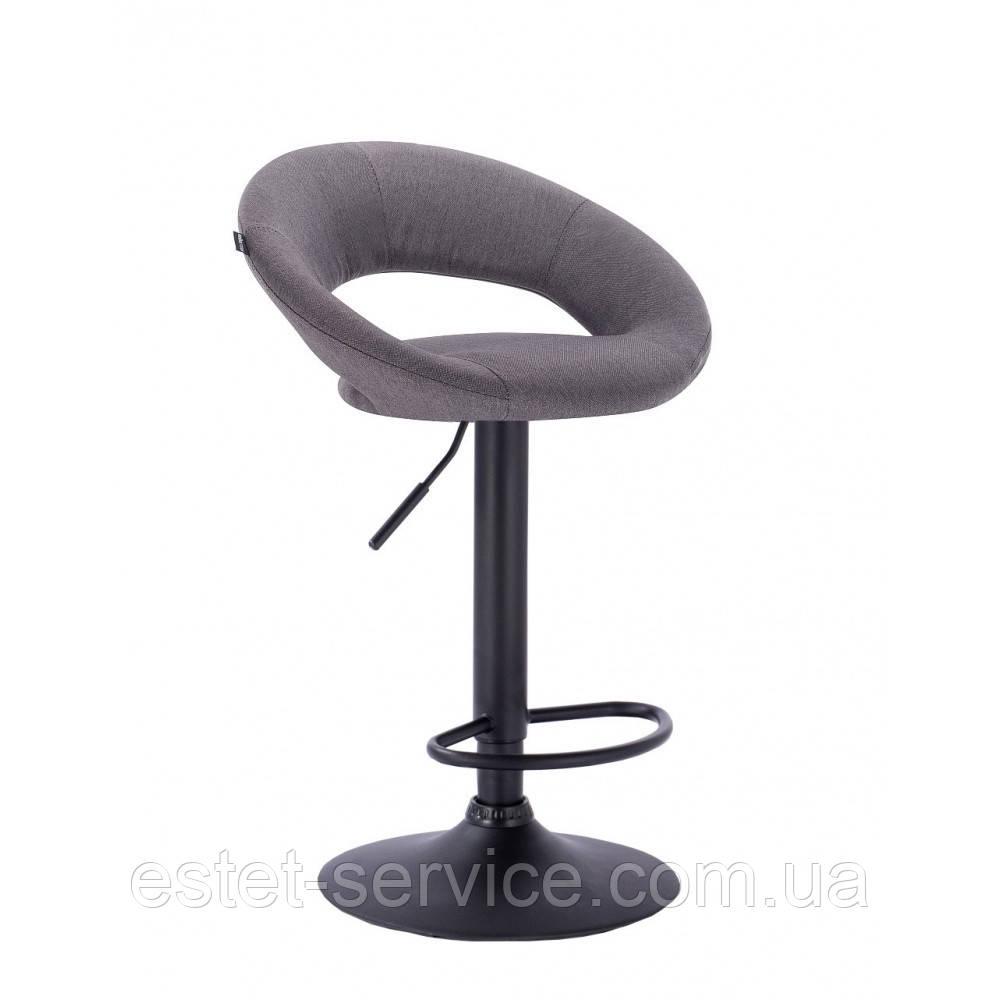 Кресло визажное HR104 на черной барной основе в оббивке ТКАНЬ