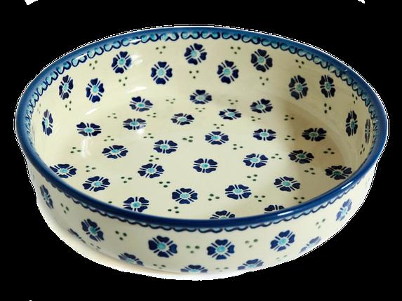 Керамическая форма круглая для выпечки и запекания 24 Alissa Blue, фото 2