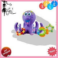 """Игрушка для купания """"Осьминог-кольцеброс"""" NUBY HS 6301   детский набор для ванной! Акция"""