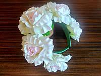 Обруч с белыми розами - 175 грн