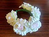 Обруч с белыми розами - 175 грн, фото 2