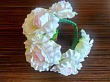 Обруч с белыми розами - 175 грн, фото 4