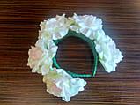 Обруч с белыми розами - 175 грн, фото 5