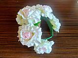 Обруч с белыми розами - 175 грн, фото 8