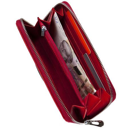 Кожаный женский кошелёк-клатч KOCHI  с ремешком на руку 195х100х22 красный  м К9026-3Н09кр, фото 2