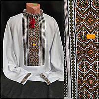 Вишиванка українська чоловіча, для чоловіків, на домотканому полотні, 46-60 р-ри, 850/750 (ціна за1шт+100гр)